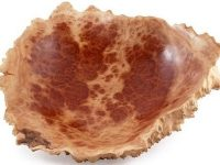 Australian Woodwork - Medium Natural Edge Red Mallee Wooden Burl Bowl
