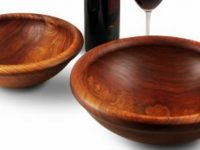 Australian Woodwork - Turned Blackwood Salad Bowl