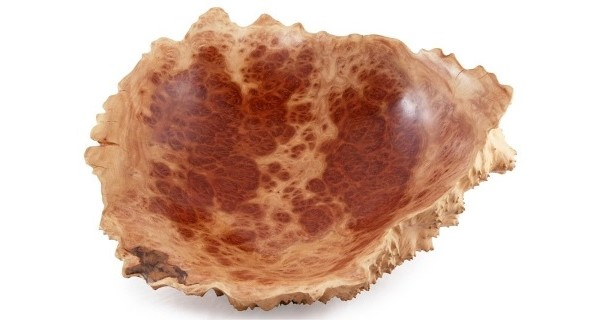 Medium Natural Edge Red Mallee Wooden Burl Bowl