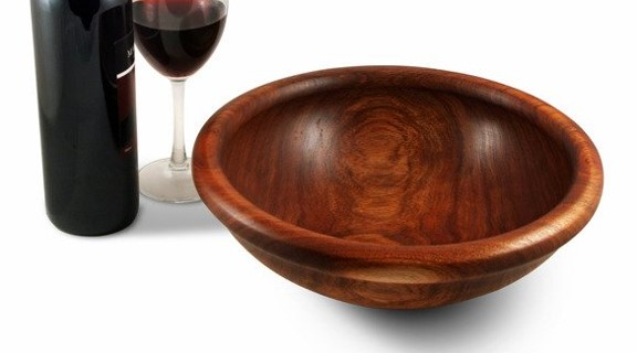 Turned Blackwood Salad Bowl