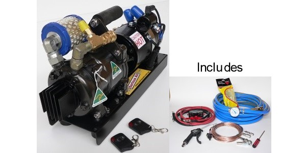 Serious Air – Compressor – Remote control model with finned cylinder head