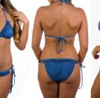 boobah Swimwear – Frilly Triangle Bikini Set
