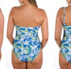 boobah Swimwear – Strapless Ruched One Piece