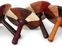 Australian Woodwork - Mixed Timber Wooden Spinning Top