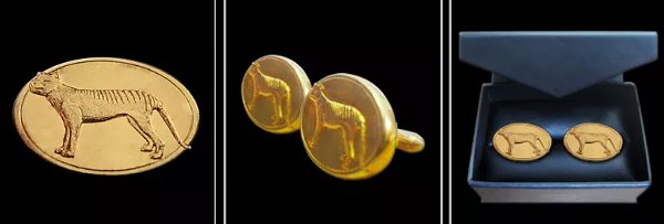 Tasmanian Devil Cuff Links - Gold