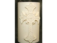 Ornate Cross Fondant Candle Mold
