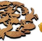 Australian Woodwork – Aussie Animals Trivet