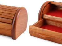 Australian Woodwork - Roll Top Australian Red Cedar Jewellery Box