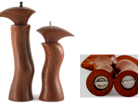 Australian Woodwork - Sculptured She Oak Salt & Pepper Mills