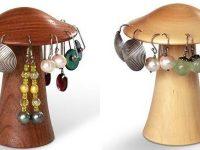 Australian Woodwork - Mushroom Earring Holder