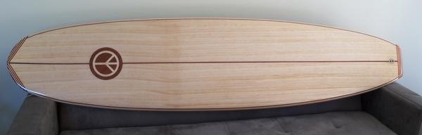 Riley Balsa Wood Surfboards – Solid Balsa Classic Mini Malibu or Funboard