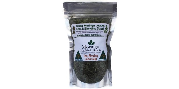 Moringa Health & Beauty – Dried Leaves 60 gm Tea/Blending sized – Made To Order