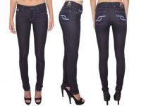 VIGGOR - Novacane – Electric Blue Women's Jeans (Skinny Mid Rise)