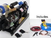 Serious Air Compressor- Remote control model with finned cylinder head.