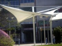 Skyspan Umbrellas - Centre Post Square Non-Retractable Hypar Umbrellas