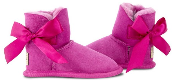 UGG Since 1974 – Toddler Ugg Bow Suede Sole