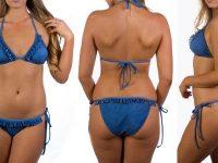 boobah Swimwear – Frilly Triangle Bikini Set