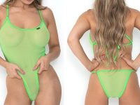 sunbabe Swimwear - Mesh Criss-Cross Micro One Piece
