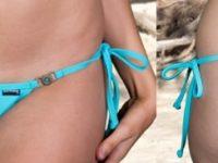sunbabe Swimwear - Super Micro Flower V String Tie Sides