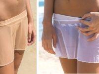sunbabe Swimwear - Mesh Soft Frill Micro Skirt