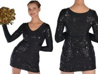 Camille Wolfe design - CH016 Black Pom Dress