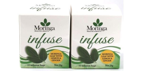 Moringa Health & Beauty – Moringa Leaf with Ginger & Lemon x 2 Boxes