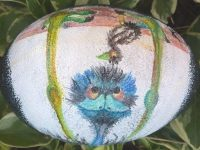 Emu Essence – Painted Emu Egg