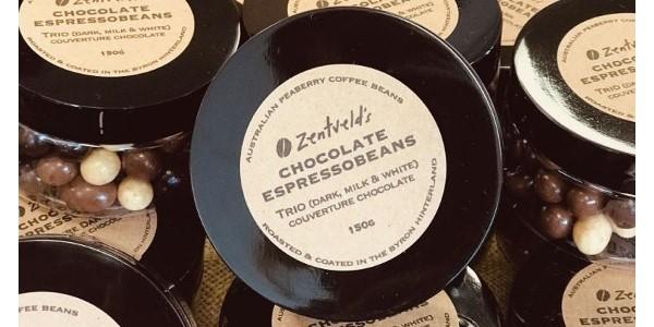 Zentveld's Australian Coffee – 150 g Trio Chocolate Espresso Beans