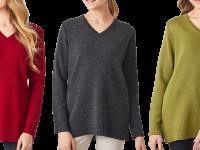 Aklanda Australia – Merino Long V Sweater with Splits