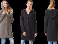 Aklanda Australia – Waffle Knit Hoodie Coat