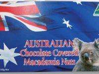 Koala Farms – Item No. 1083 - Milk Chocolate Covered Macadamia Nuts – Australian Flag Souvenir Box