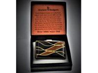 Australian Mallee Art – Australian Mallee Art – Inlaid Brooch 2 - Australian Ancient Redgum