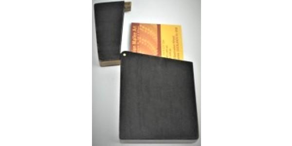 Australian Mallee Art – Business Card Holder 1 – Australian Ancient Redgum