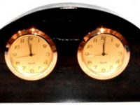 Australian Mallee Art – Double Clock - Australian Ancient Redgum