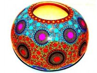 Australian Mallee Art – Hand Painted Ball Vase 2 by J. Lynch