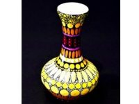 Australian Mallee Art – Hand Painted Vase by C. Mulladau