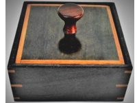 Australian Mallee Art – Large Square Inlaid Lid Box – Australian Ancient Redgum
