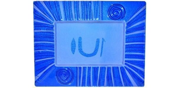 Australian Mallee Art – Rectangular Drop Painted Glass Platter