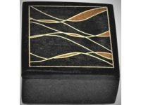 Australian Mallee Art – Small Inlaid Box 2 - Australian Ancient Redgum