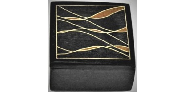 Australian Mallee Art – Small Inlaid Box 2 – Australian Ancient Redgum