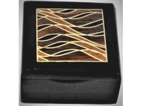 Australian Mallee Art – Small Inlaid Box 3 - Australian Ancient Redgum