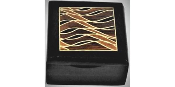 Australian Mallee Art – Small Inlaid Box 3 – Australian Ancient Redgum