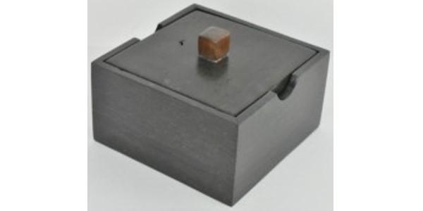Australian Mallee Art – Square Lid Box – Australian Ancient Redgum
