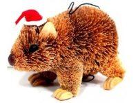 Australian Mallee Art – Australian Christmas Tree Ornament - Wombat