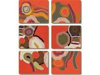 Australian Mallee Art – Desert Song Coasters (Set of 6)