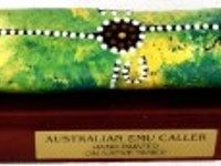 Australian Mallee Art – Emu Caller with Stand (Contemporary) 1