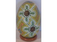 Australian Mallee Art – Hand Painted Emu Egg (Dot Art) 3