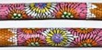 Australian Mallee Art – Hand Painted Music Sticks 1 - Aboriginal Dot Art