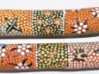 Australian Mallee Art – Hand Painted Music Sticks - Aboriginal Dot Art 3