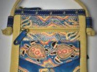 Australian Mallee Art – Leather Canvas Bag 2
